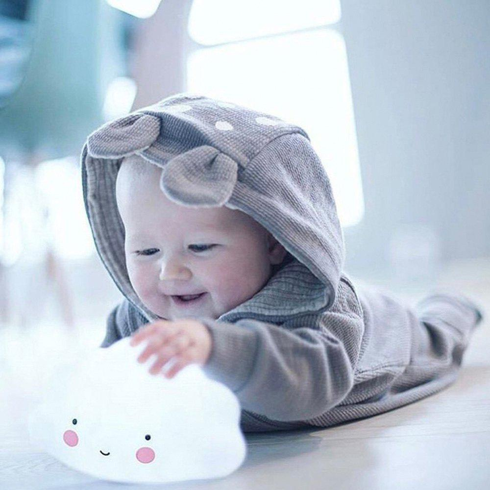 Cartoon Lovely White Cloud Shape Children Sleeping Bedroom LED Night Light - WHITE 15.5X9.2X8.3CM