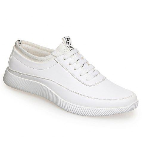 Fashion Casual Leather Shoes - WHITE 42
