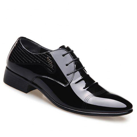 Business Leather Shoes Casual Shoes - BLACK 41