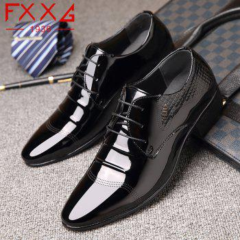 Business Leather Shoes Casual Shoes - BLACK BLACK