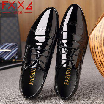 Business Leather Shoes Casual Shoes - BLACK 44