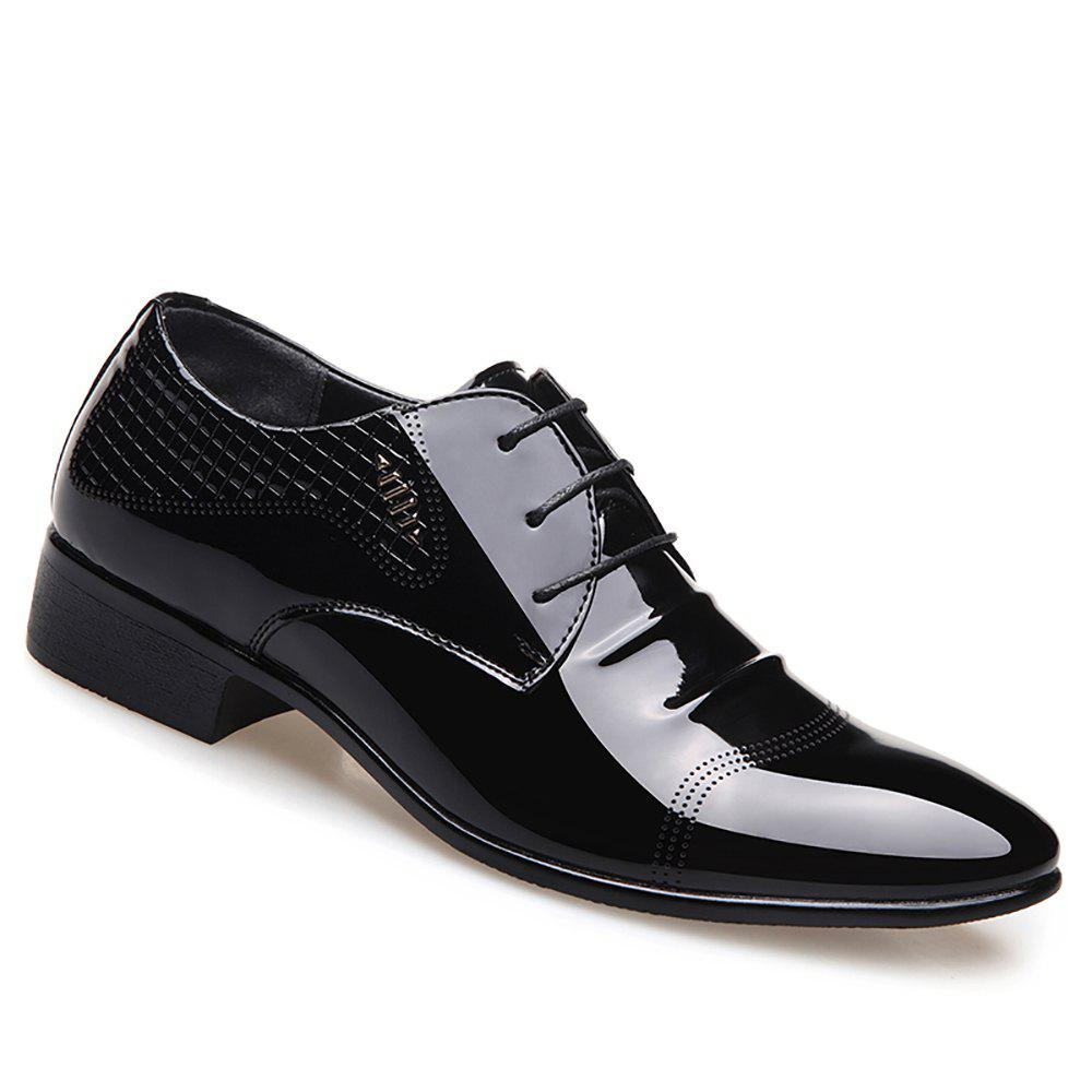 Business Leather Shoes Casual Shoes - BLACK 39