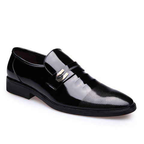 Leather Shoes Business Formal Dress - BLACK 43