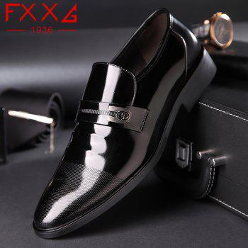 Leather Shoes Business Formal Dress - BLACK 38