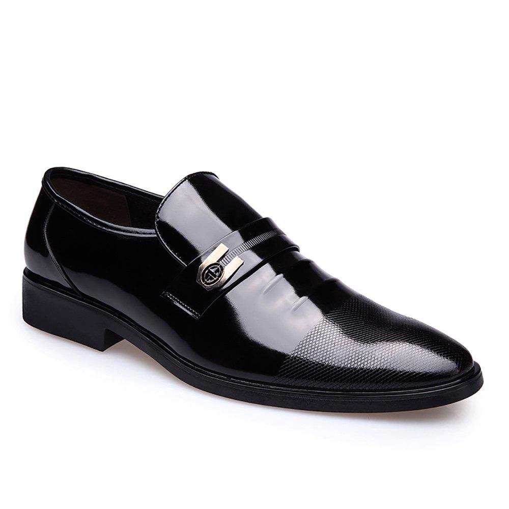 Leather Shoes Business Formal Dress - BLACK 39