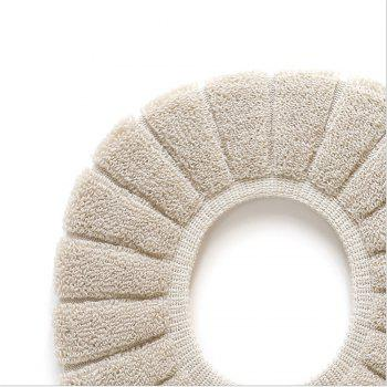 1PC Toilet Mat Comfortable Velvet Coral Toilet Seat Cover Standard Pumpkin Pattern Cushion Toilet Seat Cover - GRAY