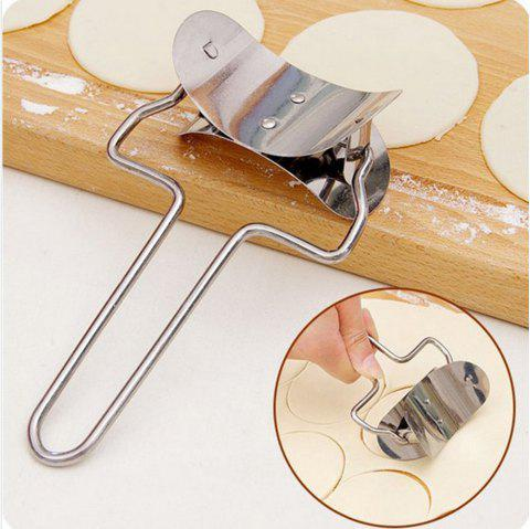 1 Pc Stainless Steel Dough Press Dumpling Pie Ravioli Mould Maker Cooking Pastry Tools - SILVER