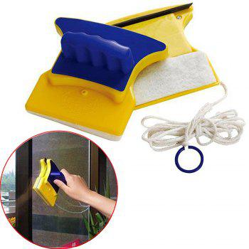 1 Pc Magnetic Window Cleaner Double Side Glass Wiper Useful Surface Brush Wipe  Blowing - BLUE