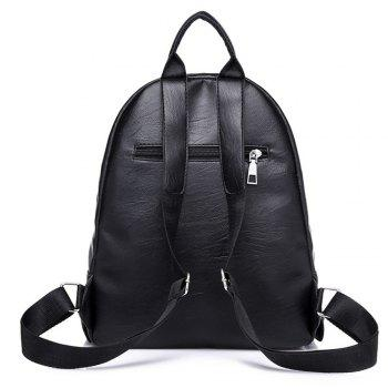 Knapsack Women's Casual Backpack with A Padded Ball with A Double Shoulder Backpack 208 - BLACK