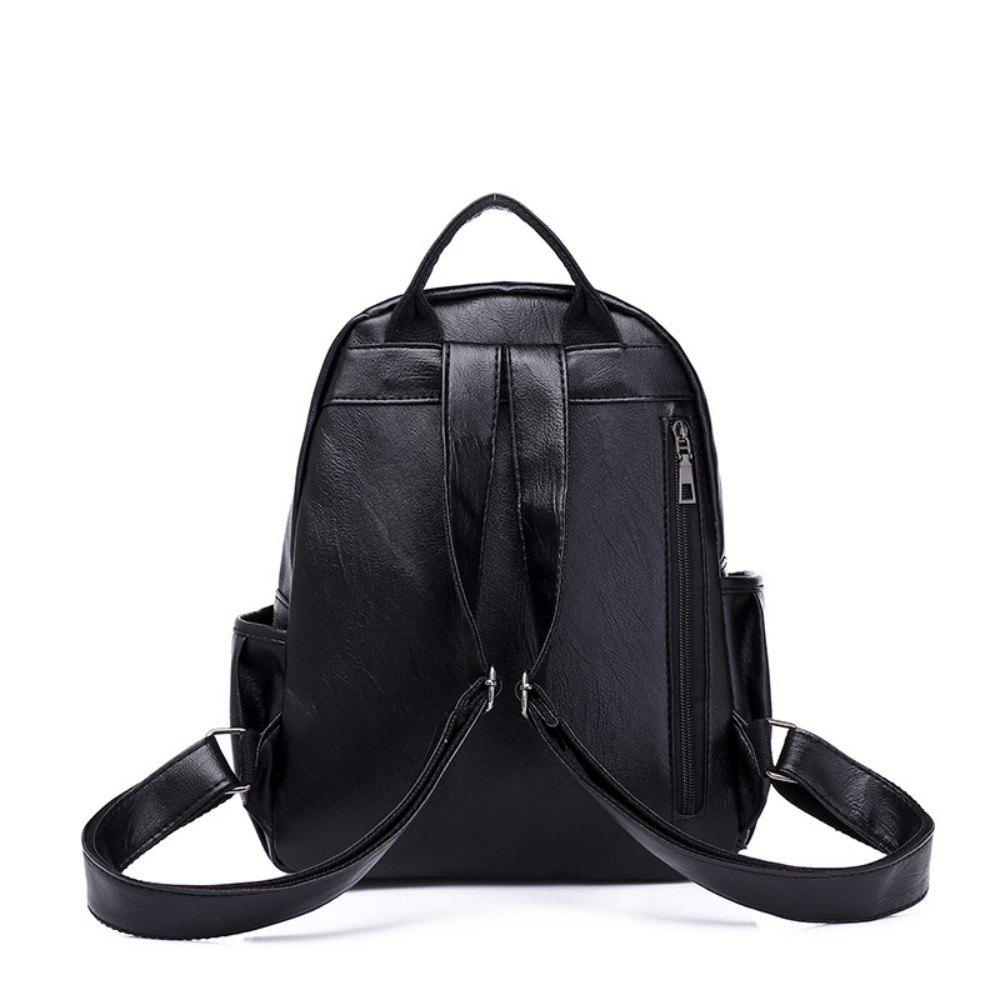 New Backpack Women's Fashion Casual Bag 223 - BLACK