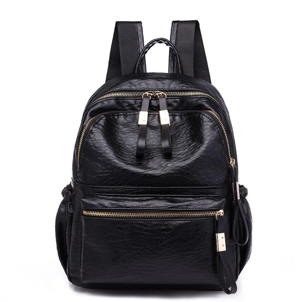 Fashion Casual Backpack Women's Bag 224 - BLACK