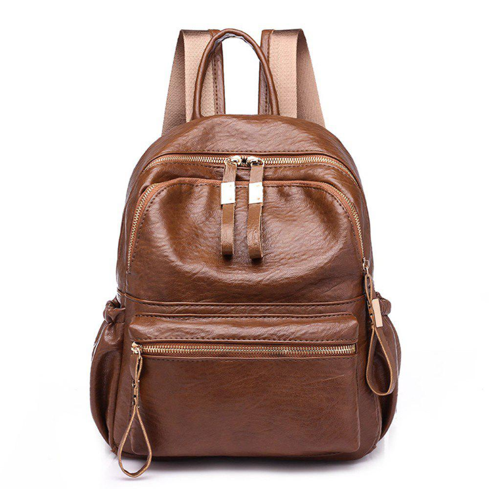 Fashion Casual Backpack Women's Bag 224 - BROWN
