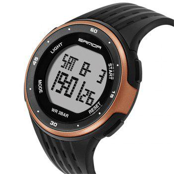 Sanda 338 1296 Sports Fashion Trend Outdoor Sports Band Calendar Multi-Functional Silicone Strap Man Waterproof Watch - ROSE GOLD