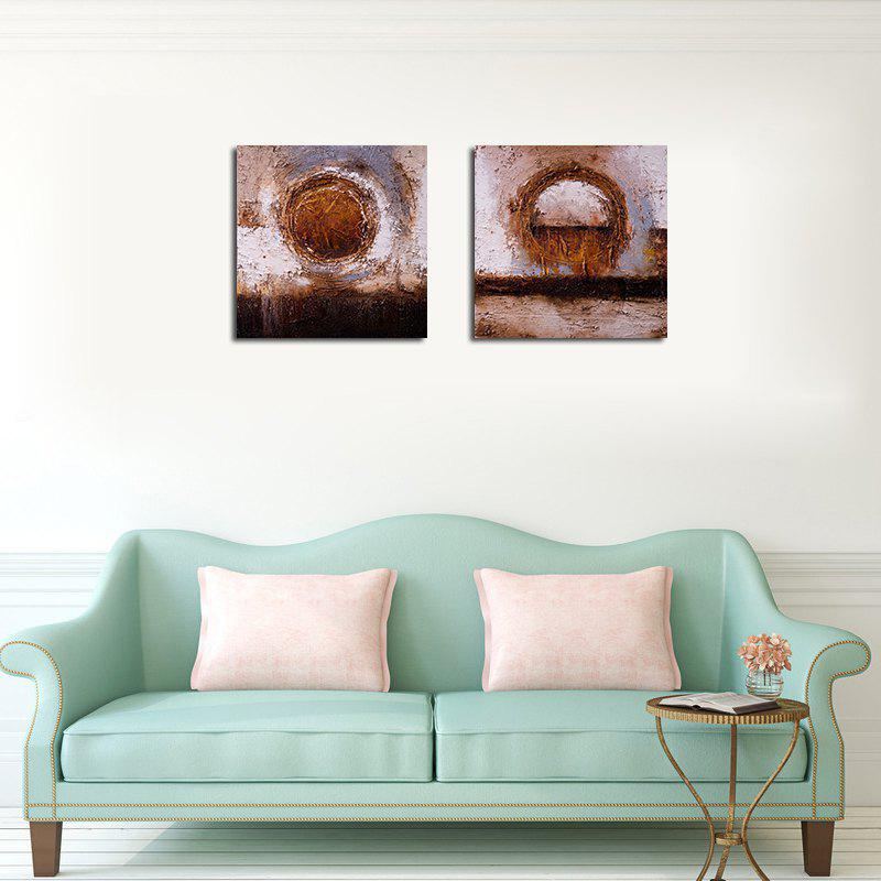 QiaoJiaHuaYuan No Frame Canvas Simple Living Room Sofa Background Abstract Decorative Print - COLORMIX