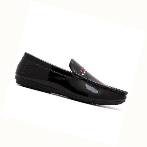 2019 Spring New Shiny Leather Loafers Shoes For Men In BLACK 40 ...