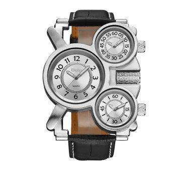 Foreign Hot Cool Watch in Multiple Time Zones - WHITE WHITE