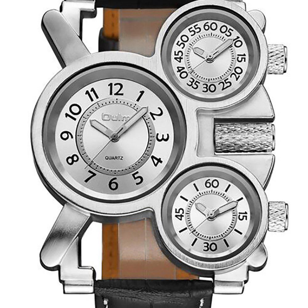 Foreign Hot Cool Watch in Multiple Time Zones - WHITE