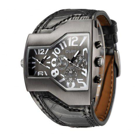 Personality Two Time Zone Tide Watch - BLACK
