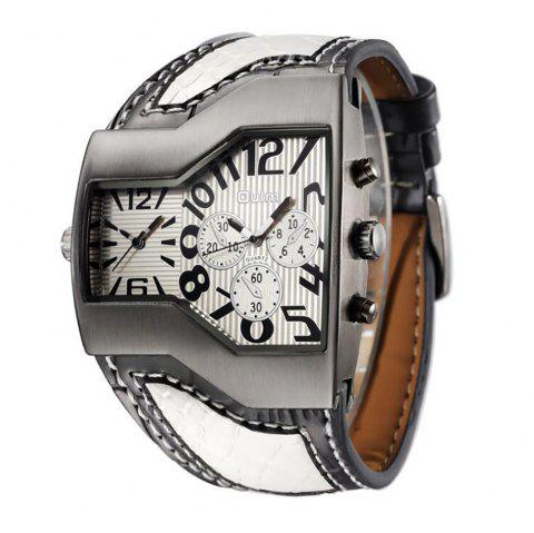 Personality Two Time Zone Tide Watch - WHITE