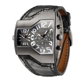 Personality Two Time Zone Tide Watch - BLACK BLACK