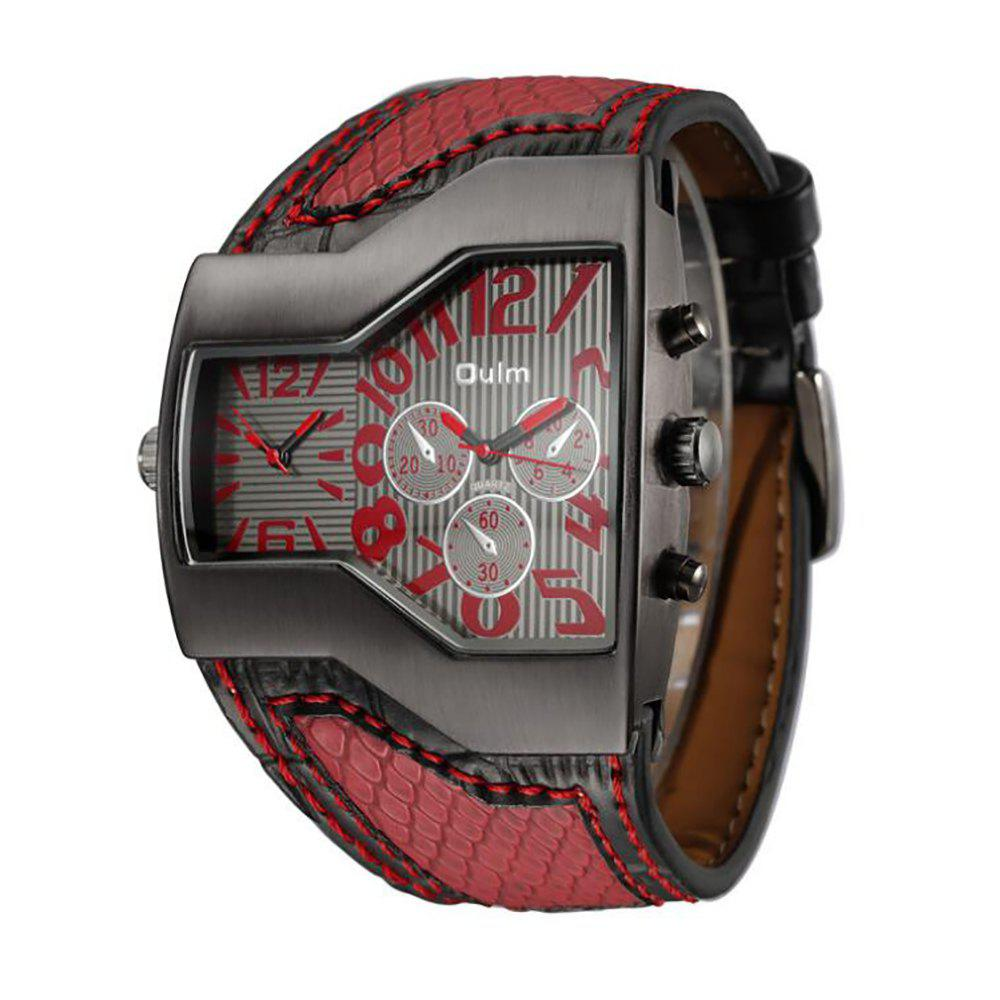 Personality Two Time Zone Tide Watch - RED