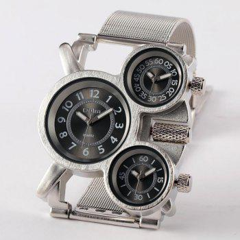 Male Wristwatch of Alloy Strap in Multi Time Foreign Trade Area - BLACK BLACK