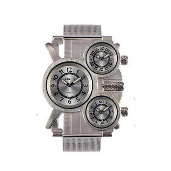 Male Wristwatch of Alloy Strap in Multi Time Foreign Trade Area - WHITE WHITE
