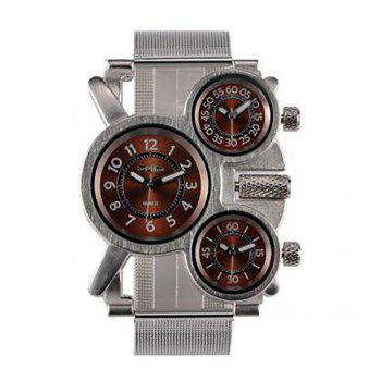 Male Wristwatch of Alloy Strap in Multi Time Foreign Trade Area - BROWN BROWN