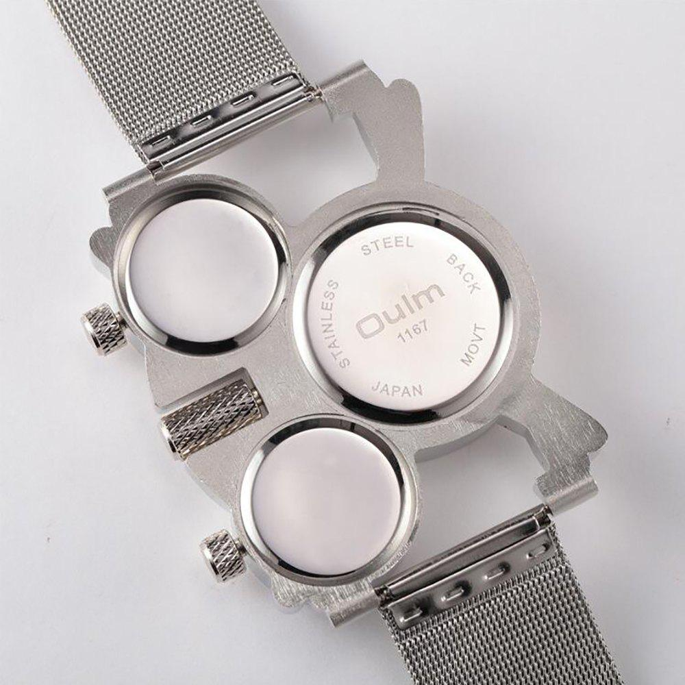 Male Wristwatch of Alloy Strap in Multi Time Foreign Trade Area - BLACK