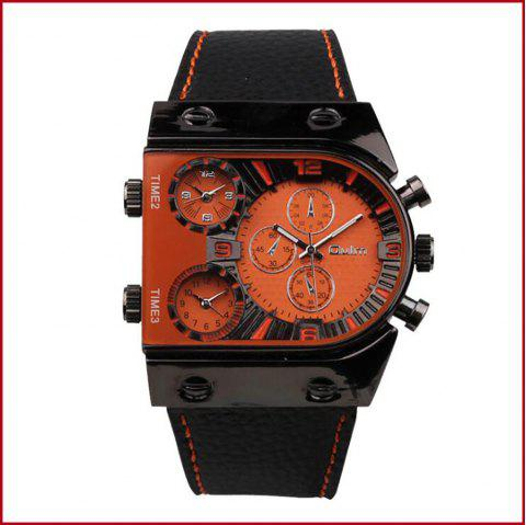 Men's Watch in Multi Time Area of Foreign Trade - ORANGE