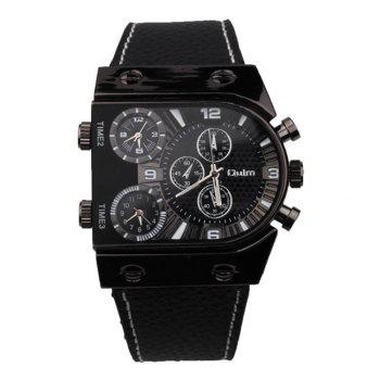 Men's Watch in Multi Time Area of Foreign Trade - BLACK BLACK