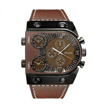 Men's Watch in Multi Time Area of Foreign Trade - BROWN BROWN