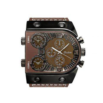 Men's Watch in Multi Time Area of Foreign Trade - BROWN