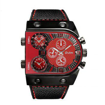 Men's Watch in Multi Time Area of Foreign Trade - RED RED