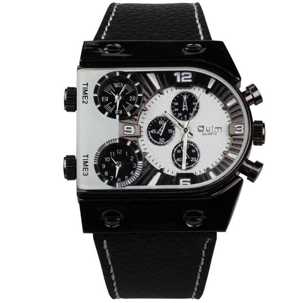 Men's Watch in Multi Time Area of Foreign Trade - WHITE