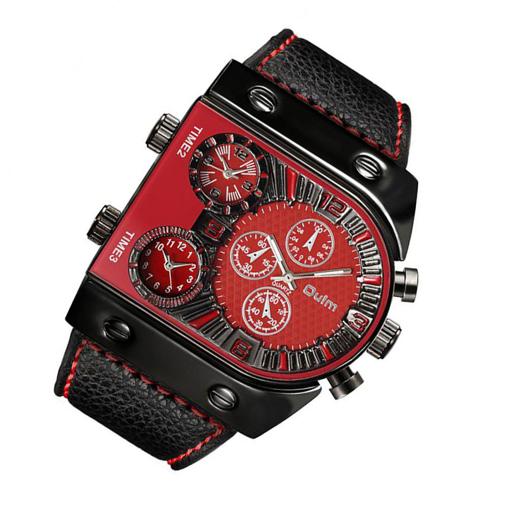 Men's Watch in Multi Time Area of Foreign Trade - RED