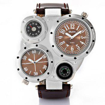 Foreign Trade Double Time Zone Men's Personality Watch - BROWN BROWN
