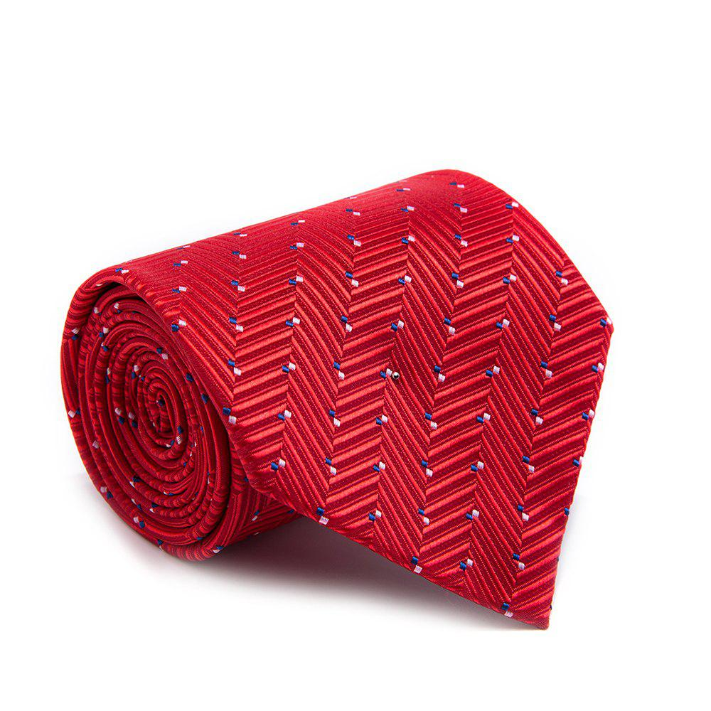 New Fashion Men Tie Formal Comfy Breathable Business Necktie Accessory - RED