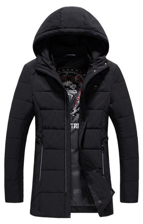 2018 Men's Fashion Trends Warm Coat - BLACK M