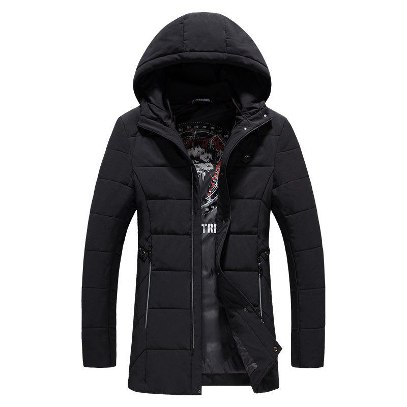 2018 Men's Fashion Trends Warm Coat - BLACK L