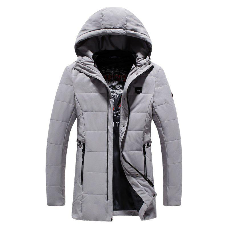 2018 Men's Fashion Trends Warm Coat - GRAY 3XL