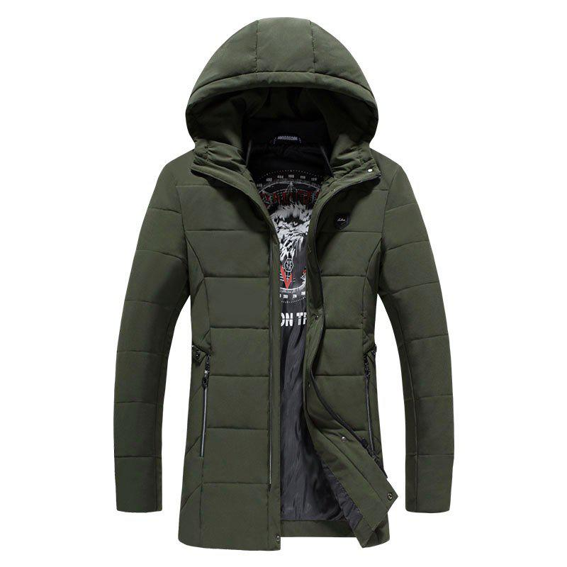 2018 Men's Fashion Trends Warm Coat - GREEN L