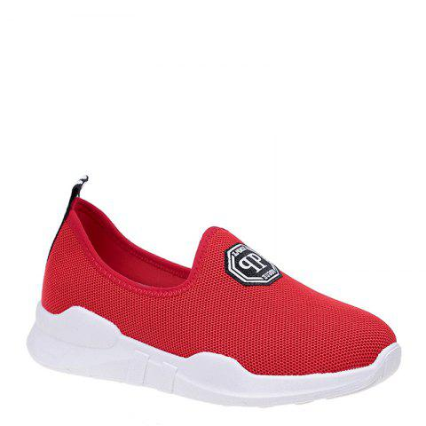 Comfortable and Breathable and Antiskid Leisure Sports Shoes - RED 37