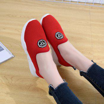 Comfortable and Breathable and Antiskid Leisure Sports Shoes - RED 39