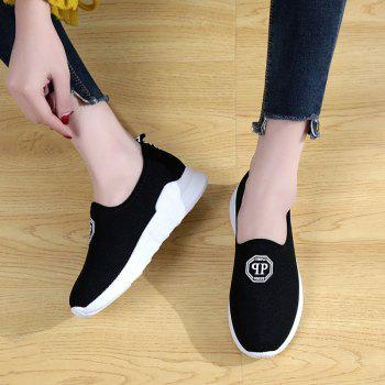 Comfortable and Breathable and Antiskid Leisure Sports Shoes - BLACK BLACK