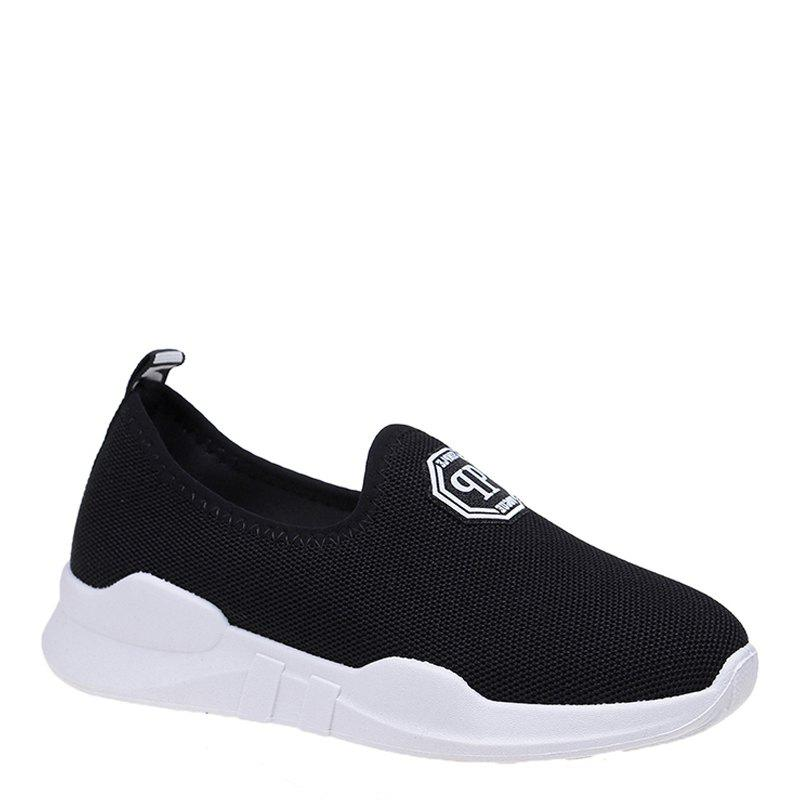 Comfortable and Breathable and Antiskid Leisure Sports Shoes - BLACK 36