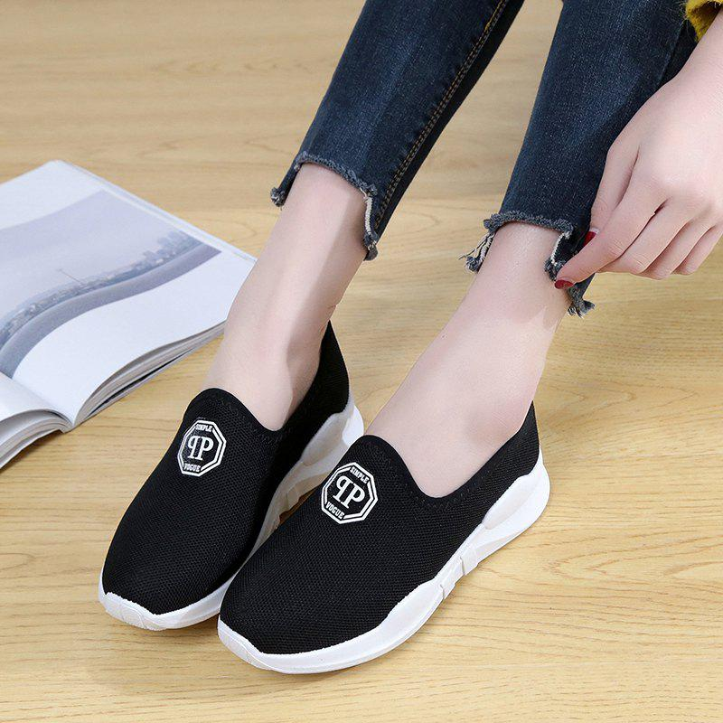 Comfortable and Breathable and Antiskid Leisure Sports Shoes - BLACK 38