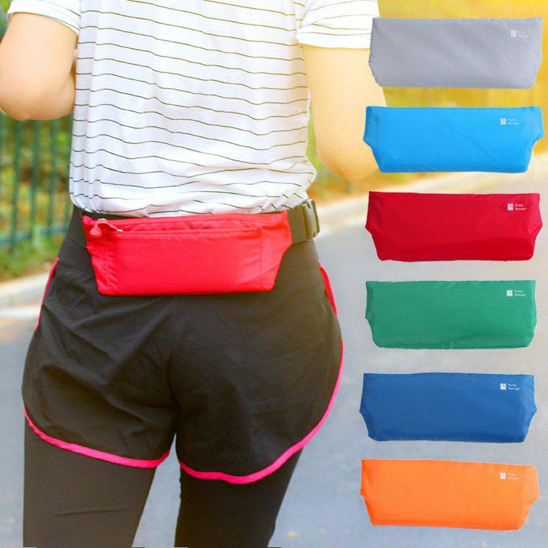 Outdoor Fitness Bag Sports Waist Running Invisible Slim Fitting Small Purse Multifunctional Belt Anti-theft - GREY
