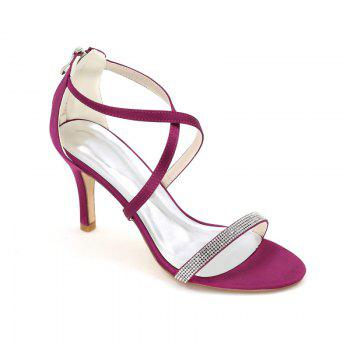 High-Heeled Sandal Wedding Shoes - PURPLE PURPLE