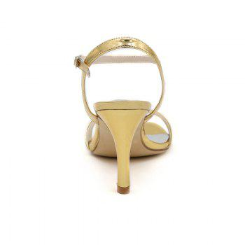Ladies High Heels Sandals - GOLDEN 38